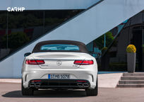 2019 Mercedes-Benz AMG S 63 Convertible Rear View