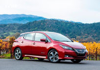 2019 Nissan Leaf electric Right Side View