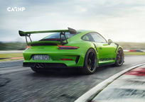 2019 Porsche 911 GT3 RS Coupe Rear 3 Quarter View