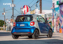 2019 Smart EQ ForTwo electric Rear 3 Quarter View