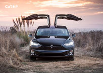 2020 Tesla Model X electric Front View