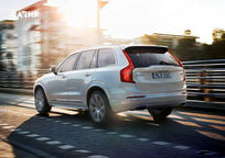2019 Volvo XC90 plug-in hybrid SUV Rear 3 Quarter View